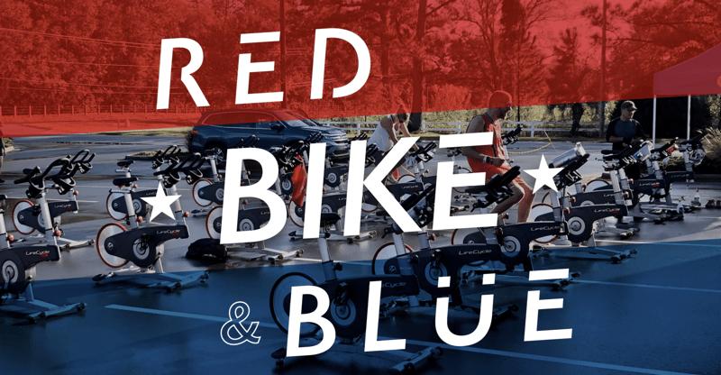 Red, Bike, and Blue
