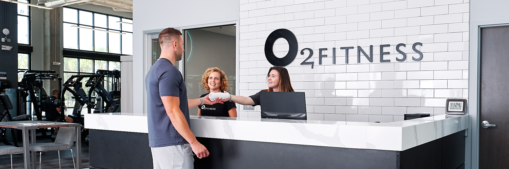 O2 Fitness Club Entrance